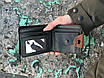 Мужской коричневый кошелек бумажник с Орлом, фото 3