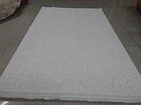 Напольный классический ковер в белых тонах из хлопка и акрила, фото 1
