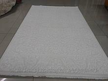 Підлоговий класичний килим в білих тонах з бавовни та акрилу