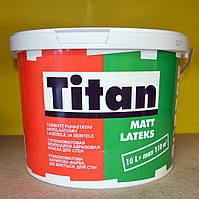 Глубокоматовая акриловая моющая краска для стен Matt Latexs Titan Eskaro (10 л), фото 1
