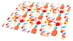 Охолоджуючий килимок для собак,(принт Коктейль) 65х50см