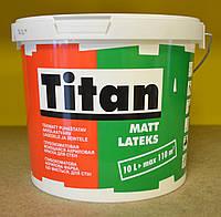 Глубокоматовая акриловая моющая краска для стен Matt Latexs Titan Eskaro (5 л)