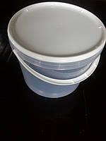 Ведро пластиковое для пищевых продуктов 5л прозрачный