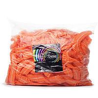 Одноразовая шапочка оранжевая, 100 шт, фото 1
