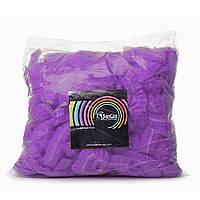 Одноразовая шапочка фиолетовая, 100 шт, фото 1