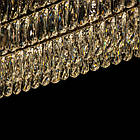 Овальная хрустальная люстра на цепи в стиле АртДеко каркас черный хром 80*30 см на 11 ламп Е14 D-9139-80x30BHR, фото 5
