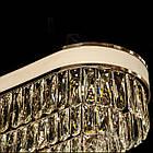 Овальная хрустальная люстра на цепи в стиле АртДеко каркас черный хром 80*30 см на 11 ламп Е14 D-9139-80x30BHR, фото 4