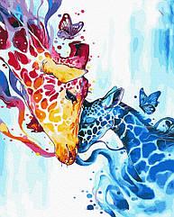 Картина по номерам Красочные жирафы GX32785 Brushme 40 х 50 см (без коробки)