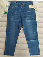Штаны джинсовые летние укороченные бриджи женские р. М(46-48) трикотажные цветные Остатки Ласточка (614-5)