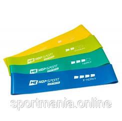 Набор резинок для фитнеса 500x50 мм HS-L550RL 4-х цветный
