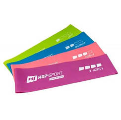 Набор резинок для фитнеса 600x75 мм HS-L675RL 4-х цветный