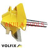Фреза VOLFIX №3 D51 d8 для кутового зрощування деревини (мікрошип) (марошип) по дереву, фото 6