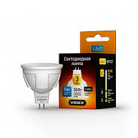 LED лампа светодиодная VIDEX MR16 5W GU5.3 3000K 220V, фото 1