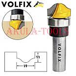 Пазовая фасонная фреза (фигурная галтельная) с подшипником VOLFIX d12 для филенки перила штапика, фото 2