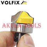 Пазовая фасонная фреза (фигурная галтельная) с подшипником VOLFIX d12 для филенки перила штапика, фото 6