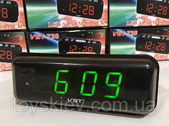 Настольный электроный часы VST-738/1233 (80 шт/ящ)