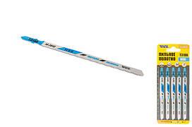 Пиляльне полотно для лобзика по металу 5 шт, чистий прямий різ, 21TPI, L 132 мм T318A MASTERTOOL 14-2813