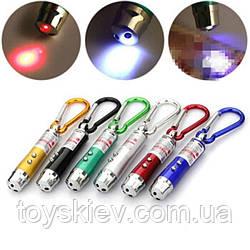 Брелок ZK 117-2/4591 фонарь+ лазер+ультрафиолет 3 в1 (600 шт/ящ)