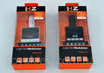 FM модулятор автомобильный HZ-H19 ( MP3-FM Transmitter )