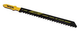 Пиляльне полотно для лобзика по дереву 5 шт, швидкий прямий різ, 8TPI, L 100 мм T111C MASTERTOOL 14-2800