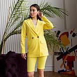 Шорты до колен и пиджак летний костюм двойка яркий женский (р. 42-48) 64101905, фото 2