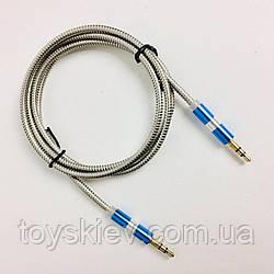AUX кабель металлический 3.5mm Jack- Jack COLOR (1000 шт)