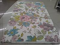 Ковер цветы на белом фоне из очень мягкого хлопка и акрила, фото 1