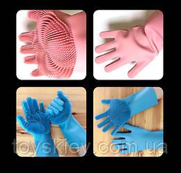 Перчатки для мытья посуды с губкой ART-0302 (100)