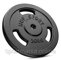 Диск металлический 20 кг Черный