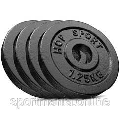 Сет из металлических дисков Strong 4x1,25 кг Черный