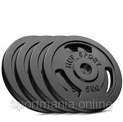 Сет из металлических дисков Strong 4x5 кг Черный