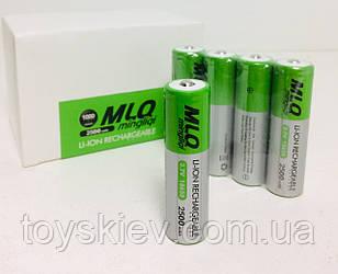 Аккумуляторы MLQ-2500/18650/3.7V-4.2/2500mAh (384 шт/ящ)