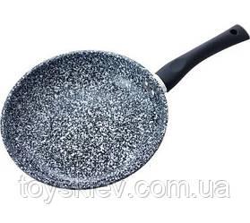 BN-565 (6)-Сковорода 24см,h-5см мраморное покр