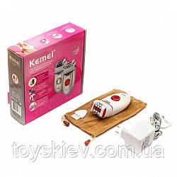 Електричний епілятор Kemei KM-2666, акумулятор, 36 пінцетів, 2 швидкості, масажна насадка (40)