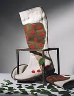 Обувь из конопли. Сапоги женские «Яблоня».