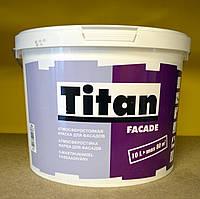 Атмосферостойкая матовая акриловая краска для фасадов Facade Titan Eskaro (10 л), фото 1