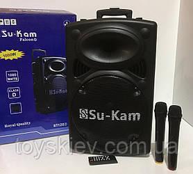 Акустическая система Su-Kam/1000W BT-120D +2 mic+ BT (1 шт/ящ)