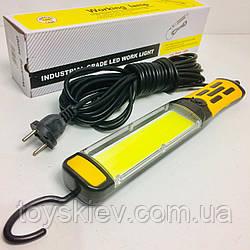 Фонарик BL 9096/7610 COB для сто с магнитом и работает от 220в кабель 9 метров (30 шт/ящ)