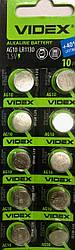 Батар часов Videx AG 10 (LR1130) BLISTER CARD 10pcs