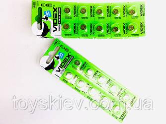 Батар часов Videx AG 2 (LR726) BLISTER CARD 10pcs