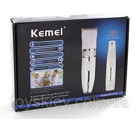 Машинка для стрижки Kemei KM 2172 2в1 (24 шт/ящ)