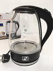 Чайник стеклянный PROMOTEC PM-810 Black (6шт/ящ)