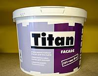 Атмосферостойкая матовая акриловая краска для фасадов Facade база TR  Titan Eskaro ( 9 л)
