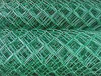 Сетка рабица стальная 2,6 - 55х55 мм - 1,5х10 м в ПВХ