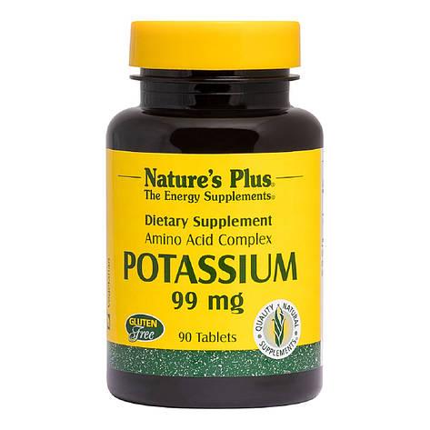 Калий, Potassium, Nature's Plus, 99 мг, 90 таблеток, фото 2