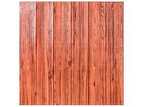 Самоклеюча 3D панель 700х700х5мм (МН-6) Червоно-коричневий