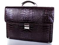 Классический мужской портфель из нутуральной кожи Desisan (Десисан), SHI217-10KR, коричневый