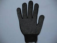 Перчатки рабочие с ПВХ нанесением( микроточка)черные