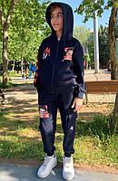 """Спортивний костюм A4 з принтом на хлопчика 128-152 см (4кол) """"MARI"""" купити недорого від прямого постачальника"""