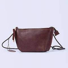 Новая модель: кожаная женская сумка бордового цвета.